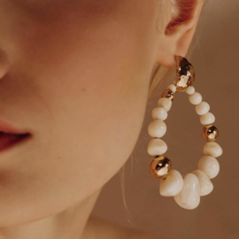 Gas Bijoux Biba Bis earrings White