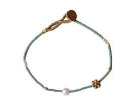 Armband fijn groen - Ibu