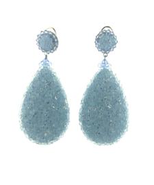 Oorbel blue swarovski silver - Imitch Exclusive