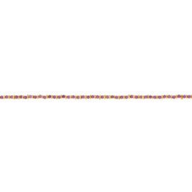 Armband steentjes paars goud - Une a Une