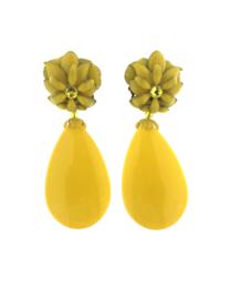 Oorbel flower drop yellow - Imitch Exclusive