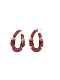 Creool klein ovaal rood - Barong Barong