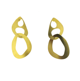 Oorbel open vormen goud mat - Imitch