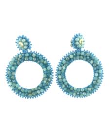 Blue Beads Round - Paulie Pocket