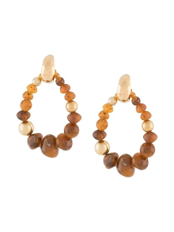 Gas Bijoux Biba Bis earrings Amber