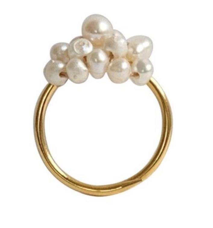 Ring parels goud - Ibu