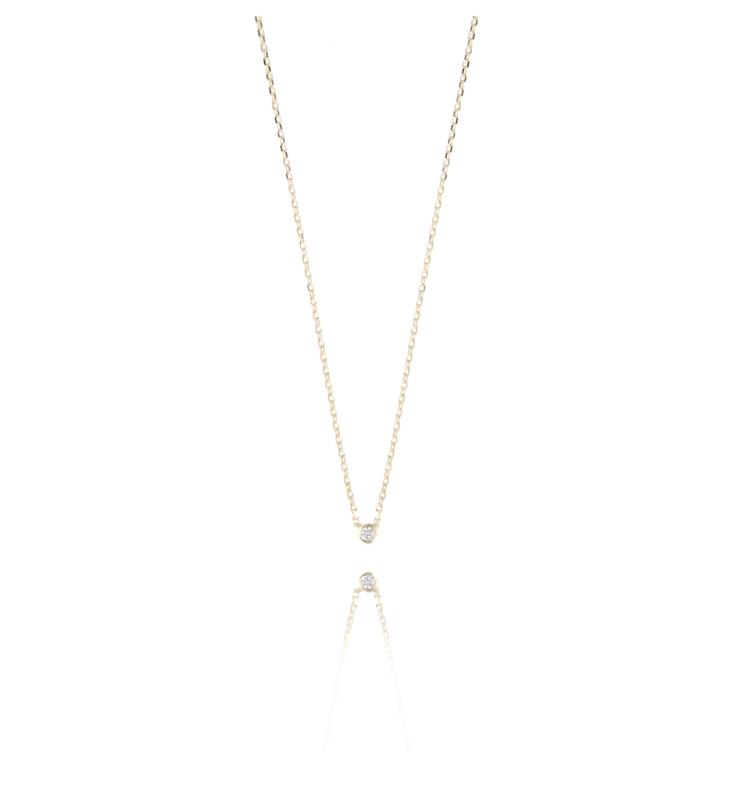 Necklace one diamond gold - LOTT. Gioielli