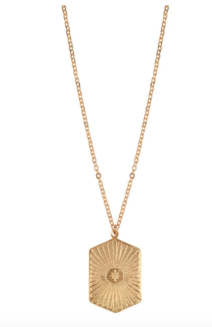 Squared coin necklace - Bobby Rose
