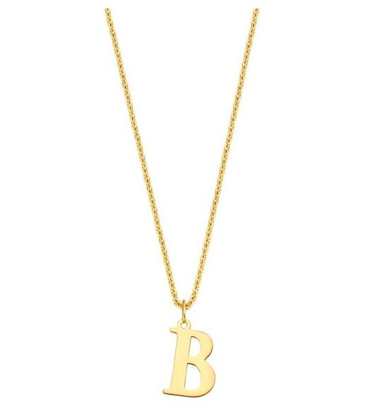 Charm initial XL necklace - Just Franky