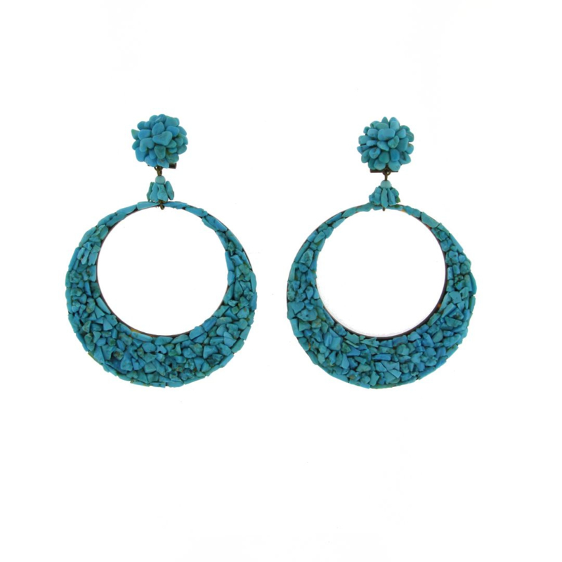 Oorbel turquoise beads - Imitch Exclusive