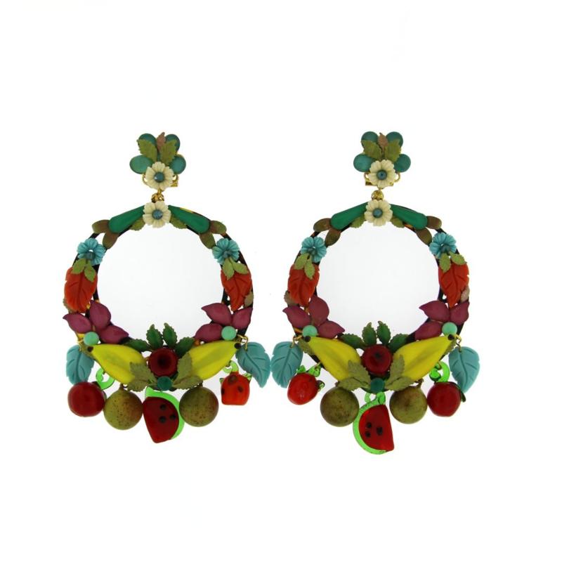 Oorbel multicolor fruits - Imitch Exclusive