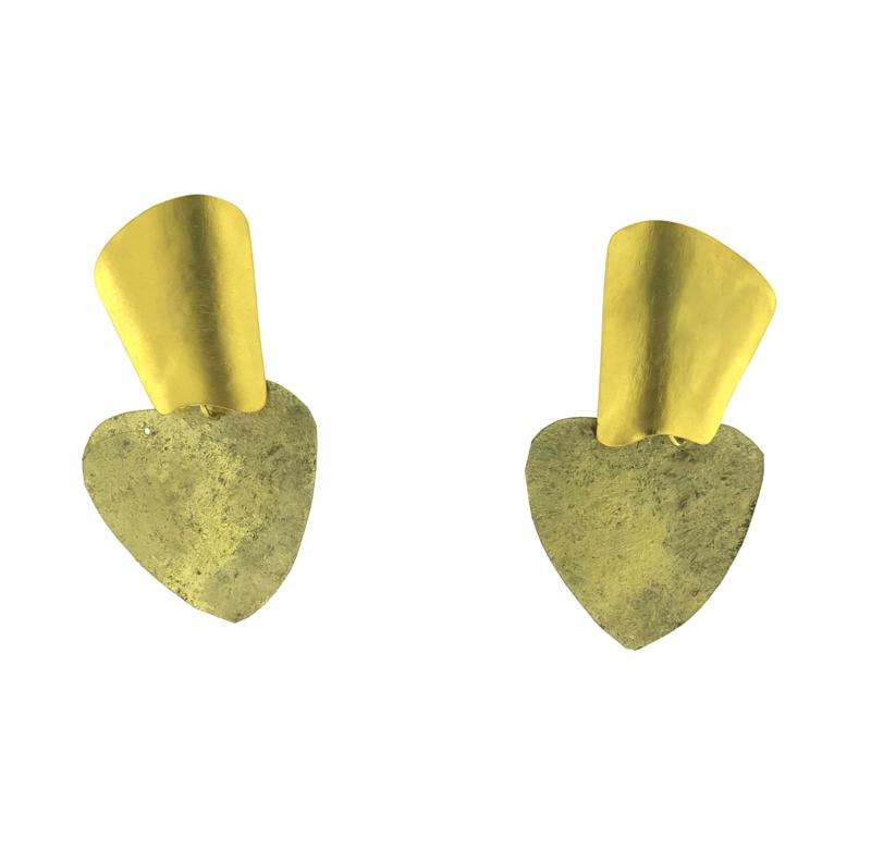 Oorbel mix goud mat - Imitch