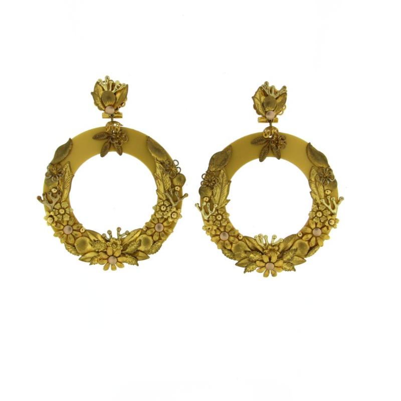 Oorbel flower gold - Imitch Exclusive