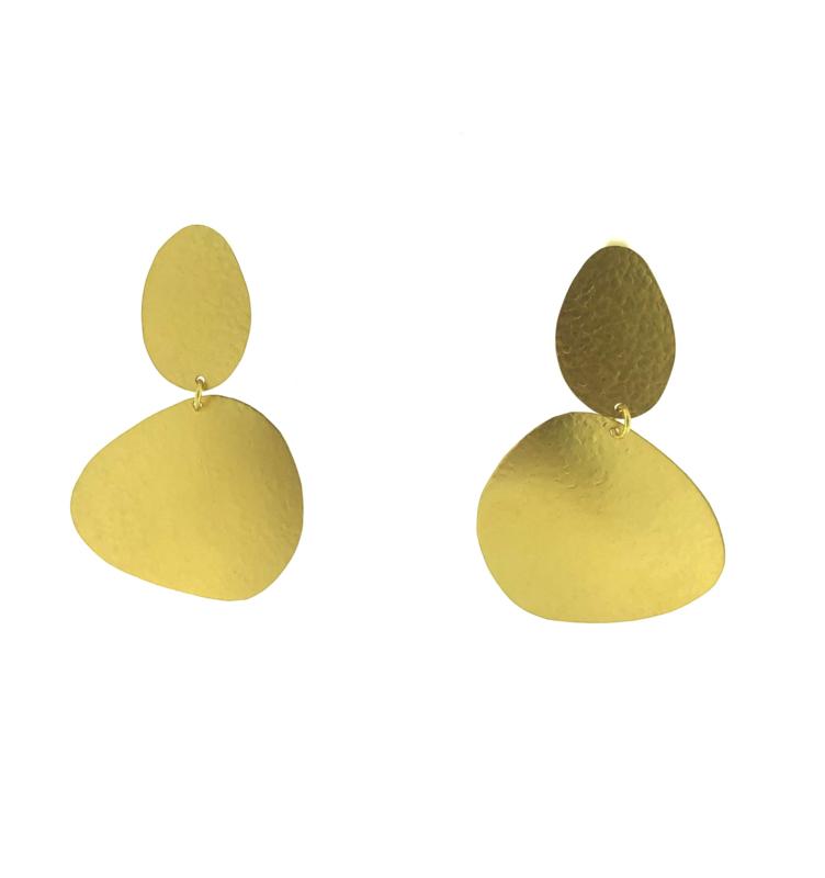 Oorbel goud mat - Imitch