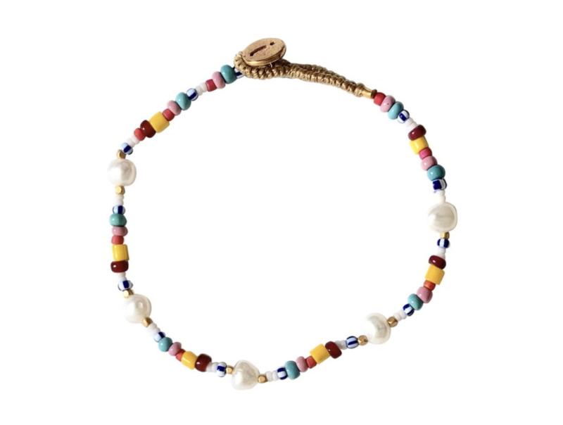 Armband multi parel steentjes - Ibu