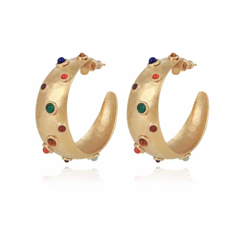 Gas Bijoux Leontia Hoop earrings gold