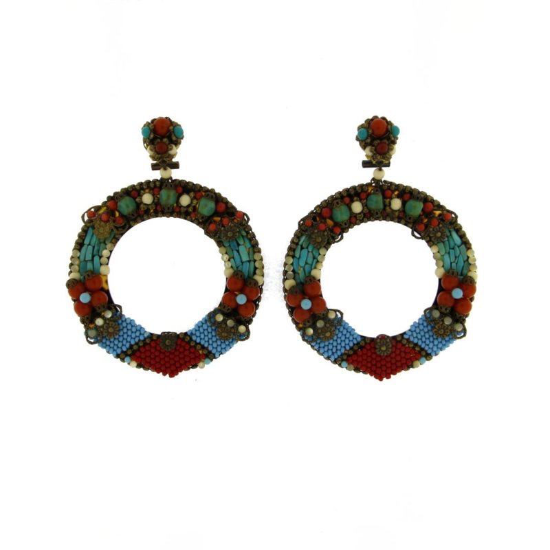 Oorbel multicolor beads - Imitch Exclusive