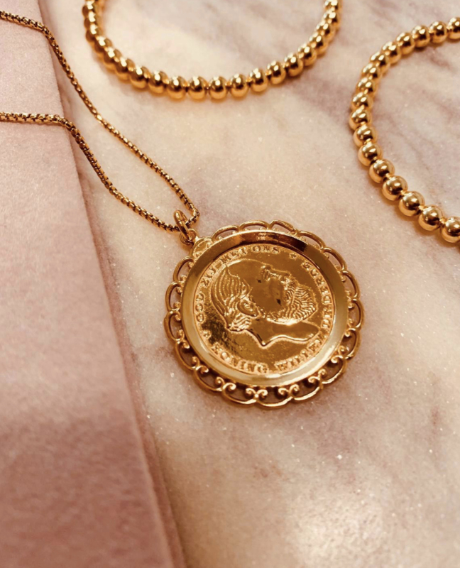 Vintage coin necklace gold - LOTT. Gioielli