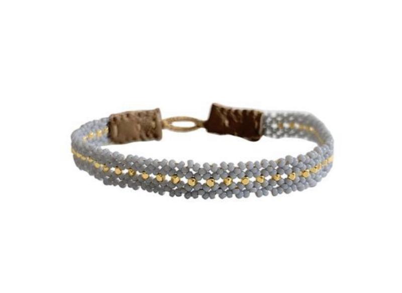Armband blauw goud mix - Ibu