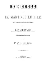40 Leerredenen - Maarten Luther