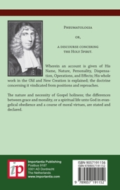 Concerning the Holy Spirit - John Owen