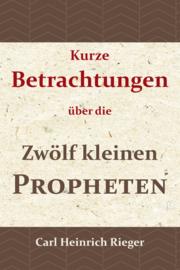 Kurze Betrachtungen über die Zwölf kleinen Propheten - C.H. Rieger