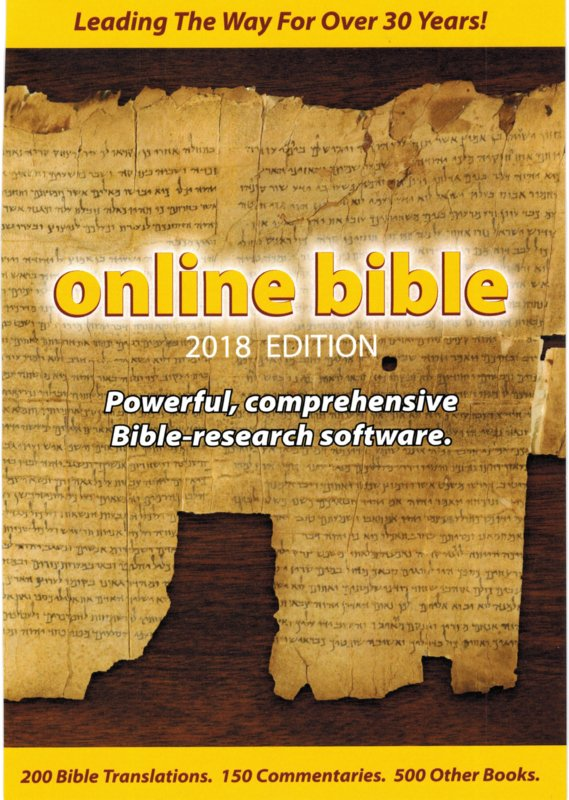 2018 Online Bible DVD-rom (USA-edition)