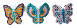 Vlinders set van 3