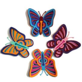 Vlinders set van 4