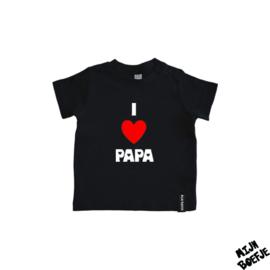 Baby t-shirt I Love Mama / I Love Papa / I Love Papa & Mama