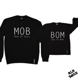 Moeder & dochter/baby sweaters Mom Of Boys / Boy Of Mom