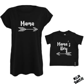 Ouder & kind/baby t-shirt MAMA'S BOY