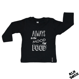 Baby t-shirt Always in the mood for food