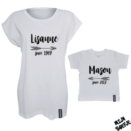 Ouder & kind/baby t-shirt SINCE
