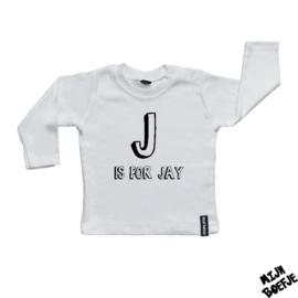 Baby t-shirt Eigen letter inclusief naam