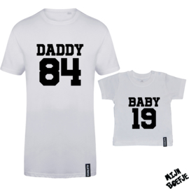 Ouder & baby t-shirt DADDY - BABY