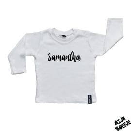 Baby t-shirt Eigen Naam 2