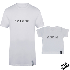 Ouder & kind/baby t-shirt Directeur - Assistent