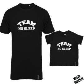 Ouder & kind/baby t-shirt TEAM NO SLEEP