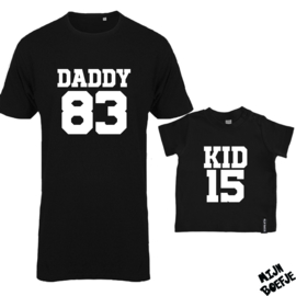 Ouder & kind/baby t-shirt DADDY - KID