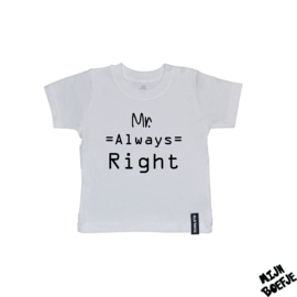 Baby t-shirt MR ALWAYS RIGHT