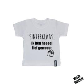 Baby t-shirt Sinterklaas, Ik ben heeeel lief geweest