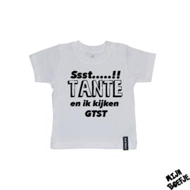 Baby t-shirt Ssst…..!! + eigen naam & eigen tekst