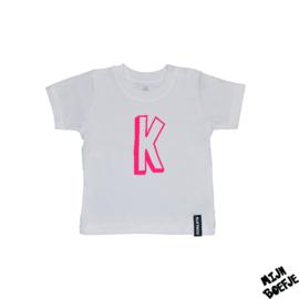 Baby t-shirt Eigen letter