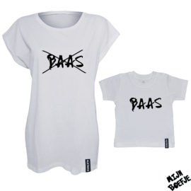 Ouder & kind/baby t-shirt BAAS