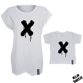 Ouder & kind/baby t-shirt X