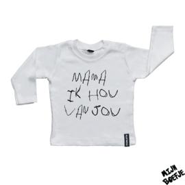 Baby t-shirt Mama ik hou van jou