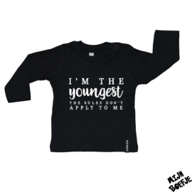Baby t-shirt I'm the YOUNGEST