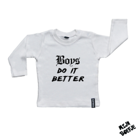 Baby t-shirt Boys do it better