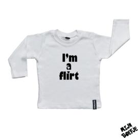 Baby t-shirt I'm a flirt